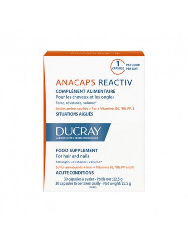 Anacaps Réactiv 30 capsules Ducray