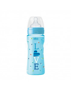 Biberon 4m+ - 330ml (Bleu) Love Chicco