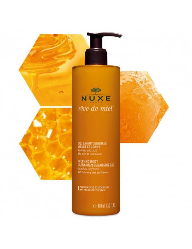 Gel lavant surgras visage et corps Rêve de miel® 400ml Nuxe