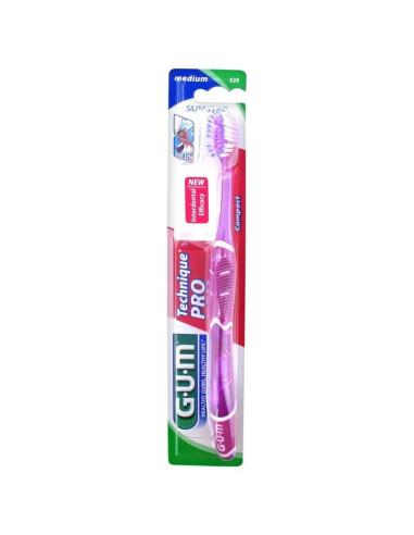 GUM® Technique PRO® Brosse à Dents Medium (Violet) 528
