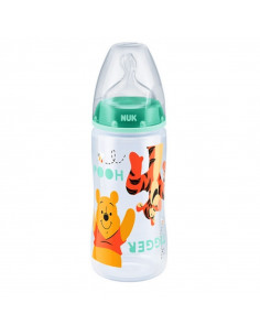 NUK Disney Winnie l'Ourson First Choice+ Biberon  0- 6m 300ml Bague Orange