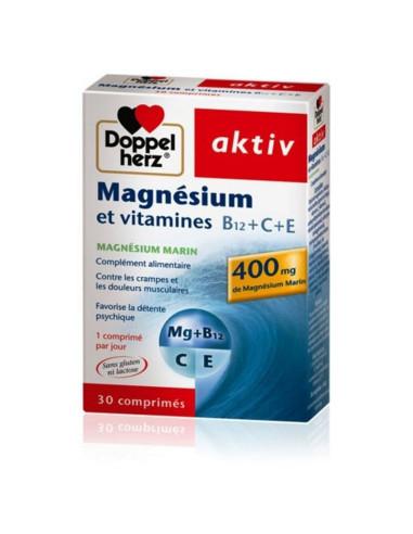 Magnésium Aktiv + Vitamines B12+C+E...