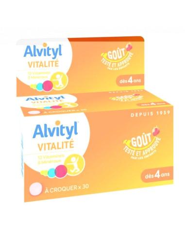 Alvityl à croquer 12 vitamines et 8...