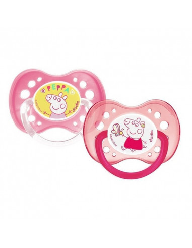 Dodie 2 Sucettes anatomiques Peppa...
