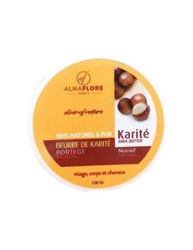 ALMAFLORE Beurre de Karité Pure et Bio 150 gr